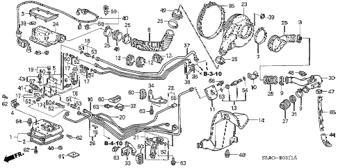 2005 civic GX(ABS/SIDE SRS) 4 DOOR CVT FUEL TANK COMPONENTS diagram