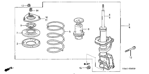2005 civic LX(SPECIAL EDITIO 4 DOOR 5MT FRONT SHOCK ABSORBER diagram