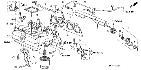 2005 civic GX(ABS) 4 DOOR CVT INTAKE MANIFOLD (2) diagram