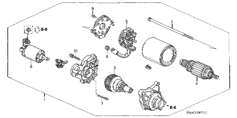 2005 civic LX 4 DOOR 4AT STARTER MOTOR (MITSUBA) diagram