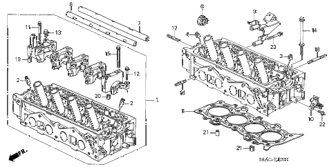 2005 civic GX(ABS) 4 DOOR CVT CYLINDER HEAD (SOHC) diagram