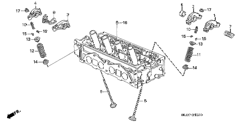 2005 civic GX(ABS) 4 DOOR CVT VALVE - ROCKER ARM (SOHC) diagram