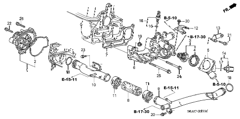 2005 civic GX(ABS) 4 DOOR CVT WATER PUMP - SENSOR (2) diagram