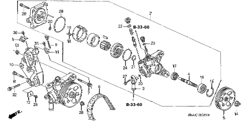2005 civic LX 4 DOOR 5MT P.S. PUMP - BRACKET diagram