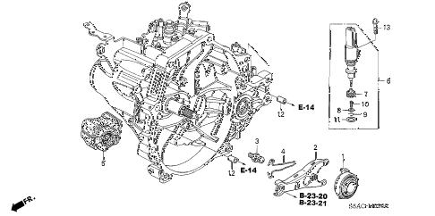 2005 civic EX(SPECIAL EDITIO 4 DOOR 5MT MT CLUTCH RELEASE diagram
