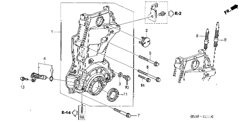 2003 civic MX(HYBRID) 4 DOOR 5MT CHAIN CASE diagram