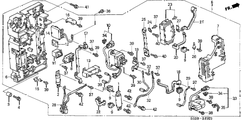2003 civic MX(HYBRID) 4 DOOR CVT IMA MAIN SWITCH - JUNCTION BOARD diagram