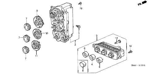 2003 civic EX(SIDE SRS) 2 DOOR 5MT HEATER CONTROL diagram