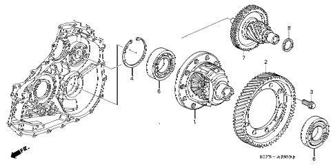 2002 civic HX 2 DOOR CVT CVT DIFFERENTIAL (CVT) diagram