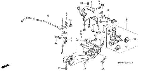 2001 civic EX 2 DOOR 5MT REAR LOWER ARM diagram