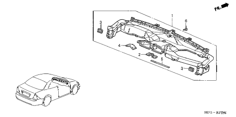 2003 civic HX 2 DOOR 5MT DUCT diagram