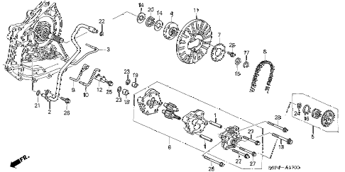 2004 civic HX 2 DOOR CVT CVT OIL PUMP (CVT) diagram