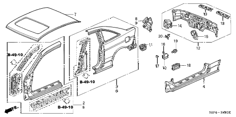 2002 civic DX 2 DOOR 4AT OUTER PANEL (OLD STYLE PANEL) diagram