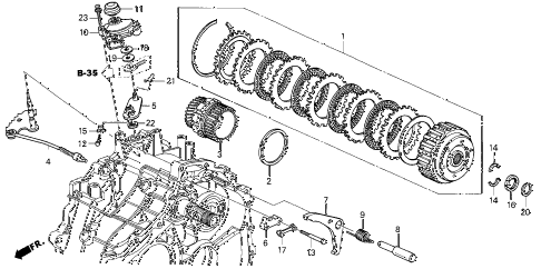 2001 civic HX 2 DOOR CVT CVT STARTING CLUTCH (CVT) diagram