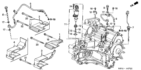 2005 civic EX 2 DOOR 4AT AT ATF PIPE - SPEED SENSOR diagram
