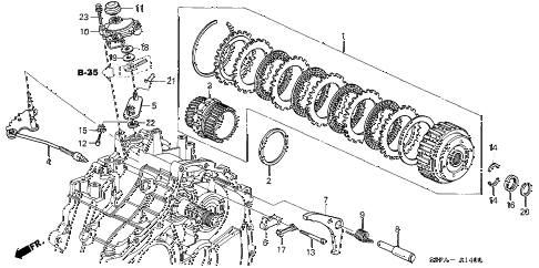 2005 civic HX 2 DOOR CVT CVT STARTING CLUTCH (CVT) diagram