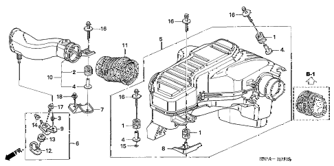 2005 civic LX(SPECIAL EDITIO 2 DOOR 4AT RESONATOR CHAMBER diagram