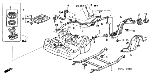 2005 civic HX(SIDE SRS) 2 DOOR CVT FUEL TANK (1) diagram