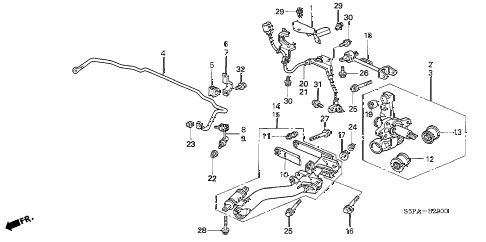 2005 civic EX(SPEC.ED/SIDESR 2 DOOR 5MT REAR LOWER ARM diagram