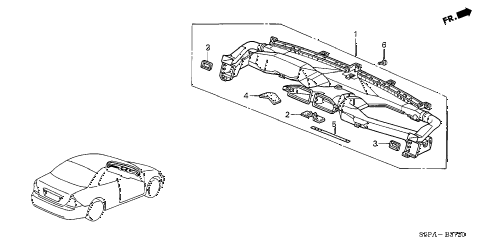 2005 civic HX(SIDE SRS) 2 DOOR 5MT DUCT diagram