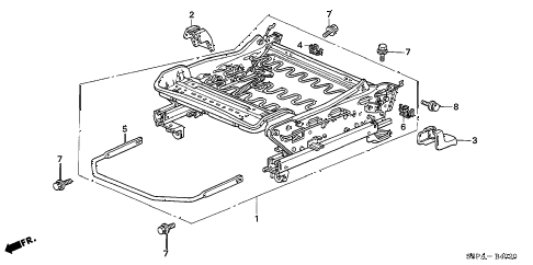 2005 civic EX(SIDE SRS) 2 DOOR 5MT FRONT SEAT COMPONENTS (R.) diagram