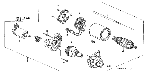2005 civic EX 2 DOOR 4AT STARTER MOTOR (MITSUBA) diagram
