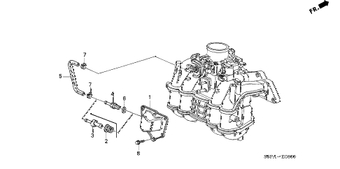 2005 civic DX(VP SIDE SRS) 2 DOOR 5MT BREATHER TUBE diagram