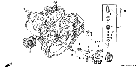 2005 civic LX(SIDE SRS) 2 DOOR 5MT MT CLUTCH RELEASE diagram