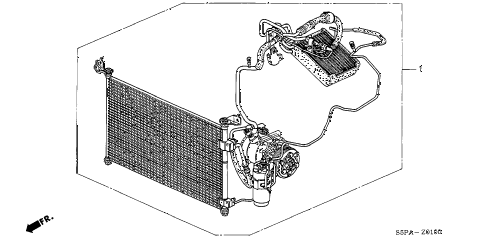 2005 civic HX 2 DOOR 5MT A/C KIT diagram