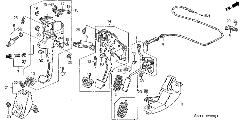 2004 civic SI 3 DOOR 5MT PEDAL diagram