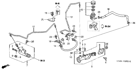 2005 civic SI 3 DOOR 5MT CLUTCH MASTER CYLINDER diagram