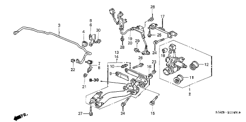 2005 civic SI 3 DOOR 5MT REAR LOWER ARM diagram