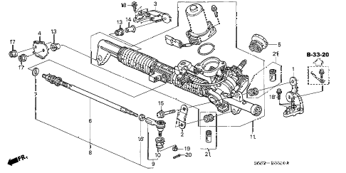 2003 civic SI 3 DOOR 5MT P.S. GEAR BOX (EPS) diagram