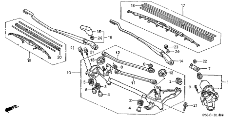 2002 civic SI 3 DOOR 5MT FRONT WIPER diagram