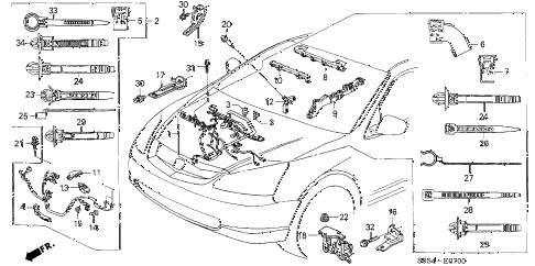 2005 civic SI 3 DOOR 5MT ENGINE WIRE HARNESS diagram