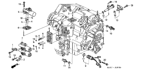 2002 cr-v LX(2WD) 5 DOOR 4AT AT SOLENOID diagram