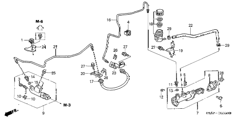 2002 cr-v EX(4WD) 5 DOOR 5MT CLUTCH MASTER CYLINDER diagram