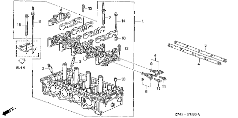 2004 cr-v LX(4WD SIDE SRS) 5 DOOR 5MT CYLINDER HEAD diagram