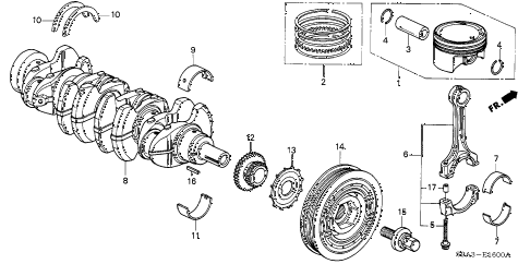 2003 cr-v LX(2WD) 5 DOOR 4AT PISTON - CRANKSHAFT diagram