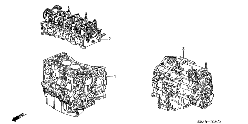 2004 cr-v EX(4WD) 5 DOOR 5MT ENGINE ASSY. - TRANSMISSION ASSY. diagram
