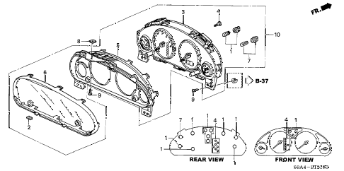 2004 cr-v EX(4WD) 5 DOOR 5MT METER COMPONENTS (NS) diagram