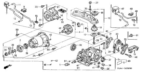2002 cr-v LX(4WD) 5 DOOR 5MT REAR DIFFERENTIAL diagram
