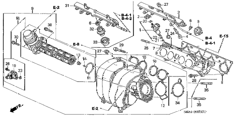 2002 cr-v LX(2WD) 5 DOOR 4AT INTAKE MANIFOLD diagram