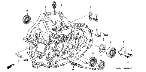 2004 cr-v EX(4WD) 5 DOOR 5MT MT CLUTCH CASE diagram