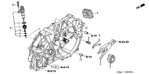 2003 cr-v LX(4WD SIDE SRS) 5 DOOR 5MT MT CLUTCH RELEASE diagram