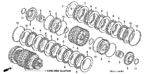 2006 cr-v EX(2WD) 5 DOOR 5AT CLUTCH (LOW-THIRD) diagram