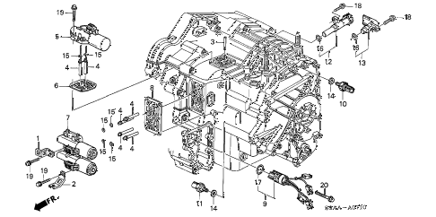 2006 cr-v EX(2WD) 5 DOOR 5AT SOLENOID diagram
