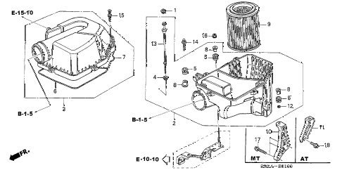 2006 cr-v EX(2WD) 5 DOOR 5AT AIR CLEANER diagram