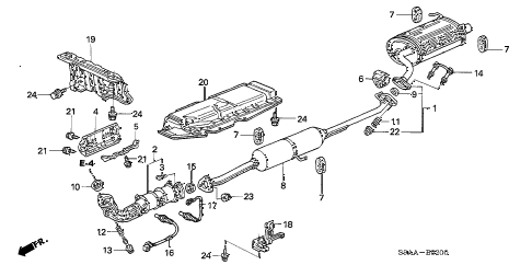 2006 honda crv exhaust system diagram basic guide wiring diagram \u2022 2002 subaru wrx exhaust diagram honda online store 2006 crv exhaust pipe muffler parts rh estore honda com 2000 honda civic exhaust diagram 1999 honda civic exhaust diagram