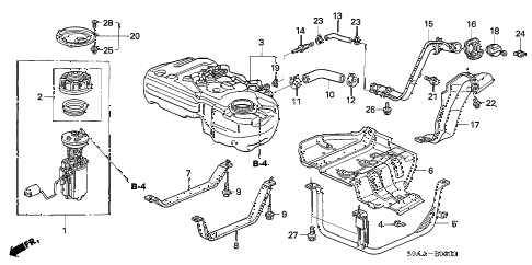 2006 cr-v EX(2WD) 5 DOOR 5AT FUEL TANK (1) diagram